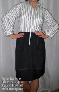 Simplicity 3684 blouse copyright Sharon Madsen