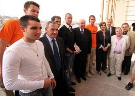Fabien Gilot et les sportifs marseillais