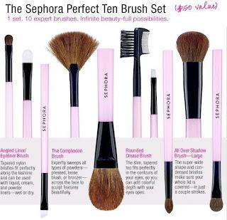 Sephora Perfect Ten (Makeup Brushes)