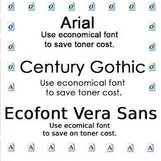 economical fonts that save toner