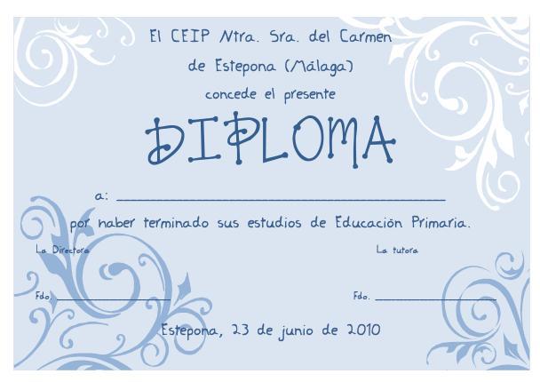 El Blog de Sexto B: Nuestro Diploma