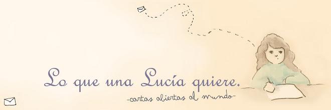 Lo que una Lucía quiere.
