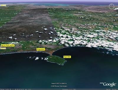 Peta satelit Green Canyon ciamis pangandaran