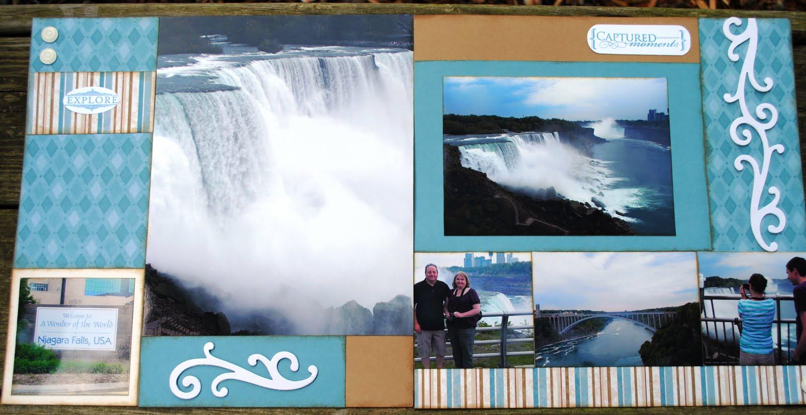 Scrapbook ideas niagara falls - Niagara Falls Layout