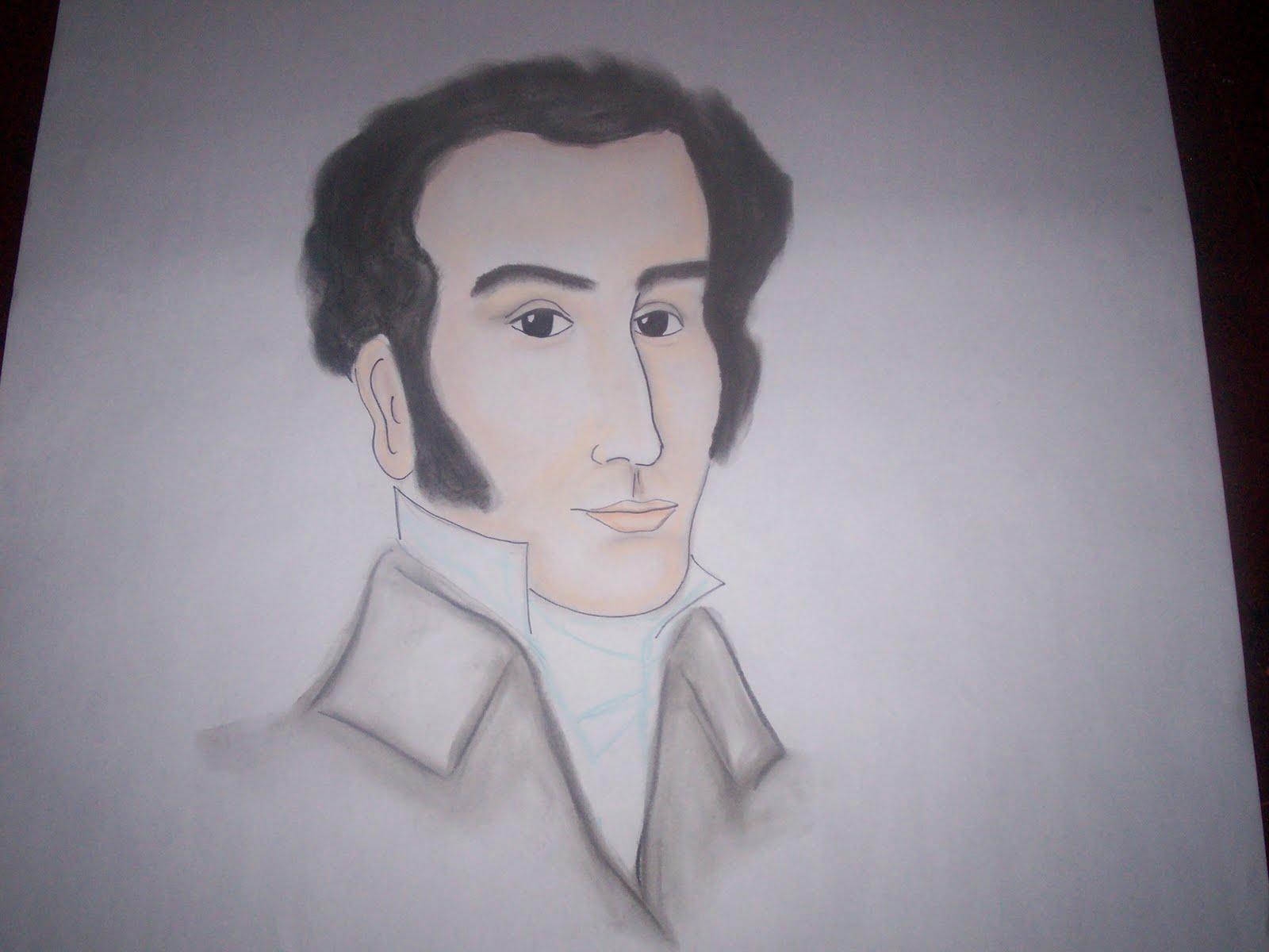Nuestro LIBERTADOR Simón Bolivar que quedó preciosoooooo jaja es que