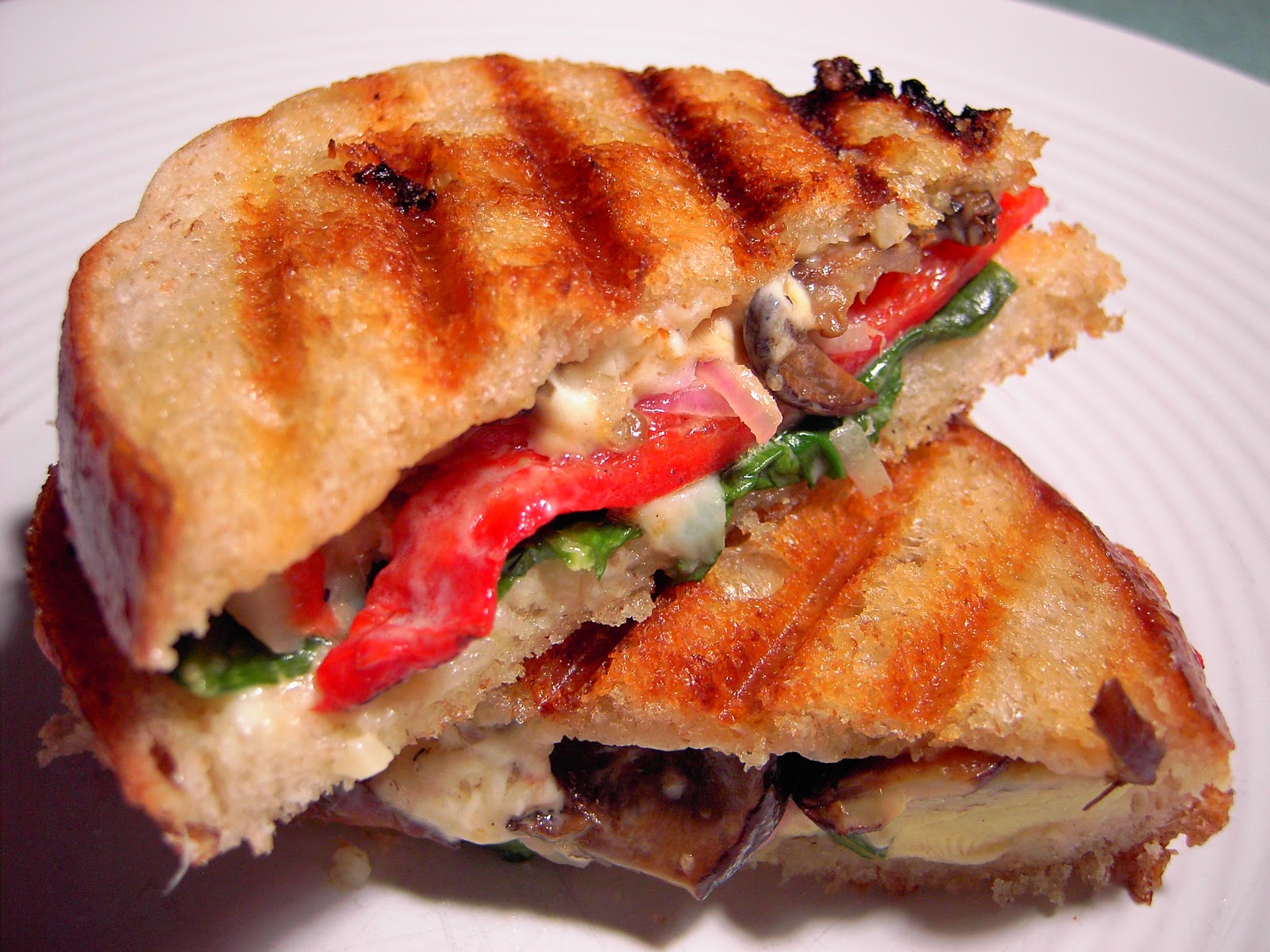 pepper panini with grilled chicken and roasted grilled chicken roasted ...