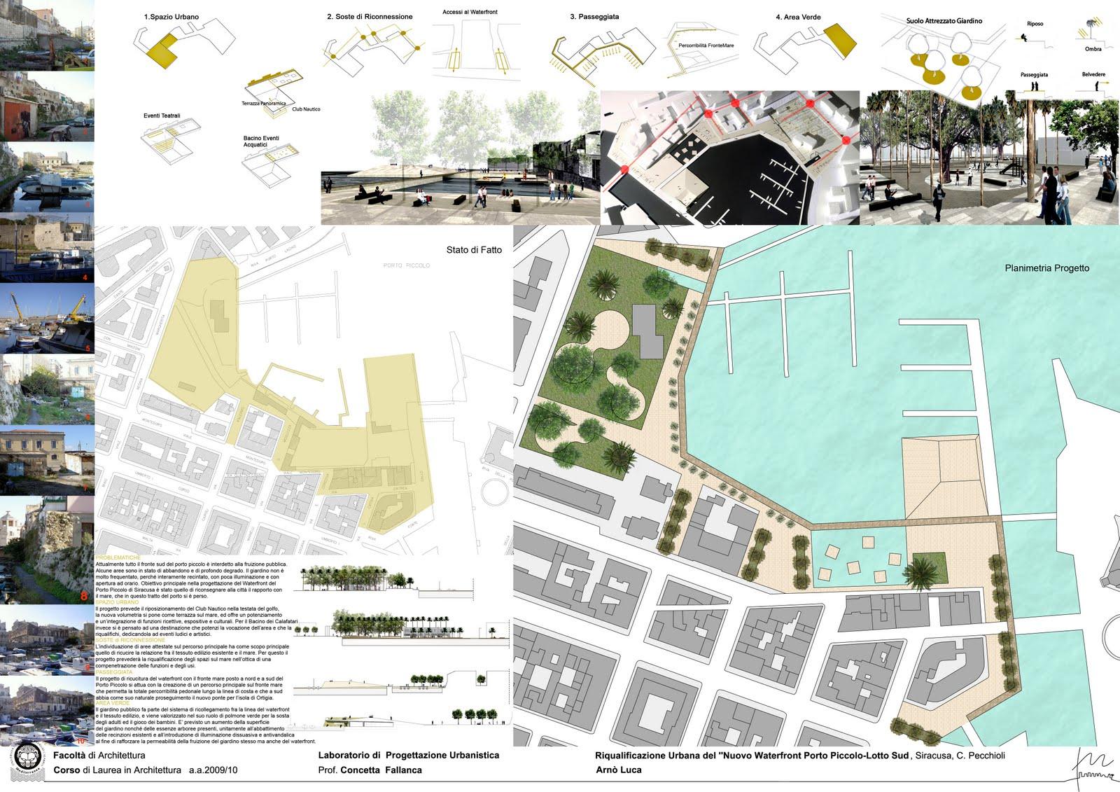 Laboratorio di progettazione urbanistica c fallanca - Tavole di concorso architettura ...