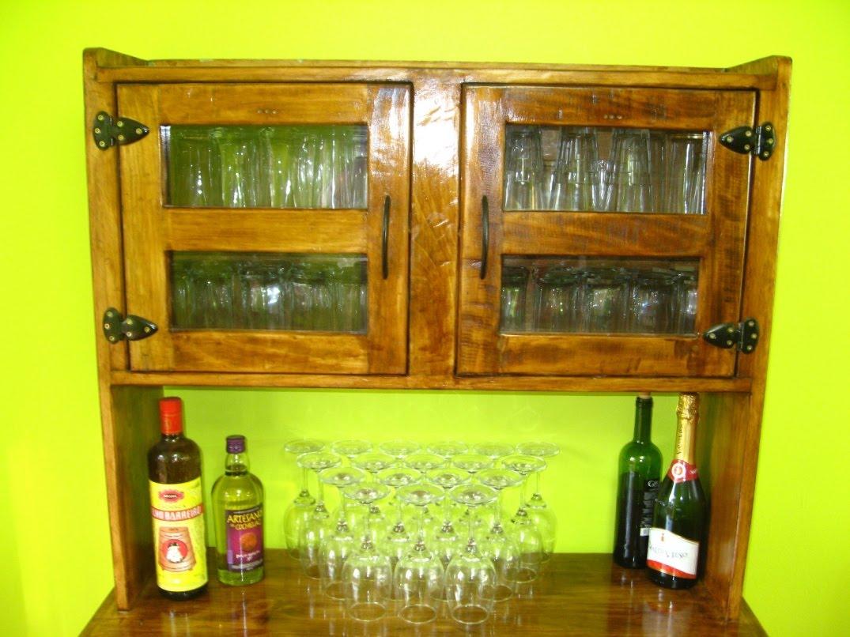 Muebles rusticos buin muble bar o de cocina for Muebles de cocina rusticos