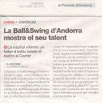 Tenim talent... ho diu el Periòdic d'Andorra!