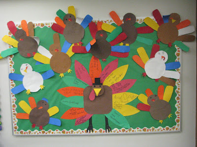 Portnoff family fun thanksgiving bulletin board idea for Turkey template for bulletin board