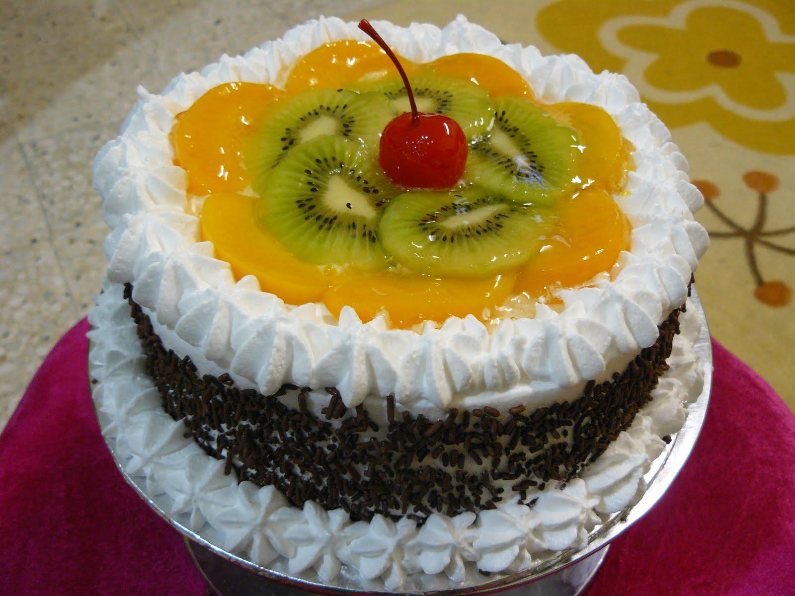 fresh fruit cake photos