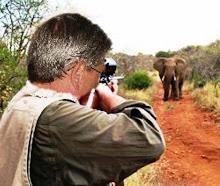 Eu, quando ainda caçador em Africa