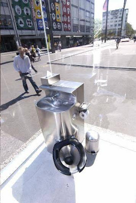 Inside View of Public Toilet from Switzerland