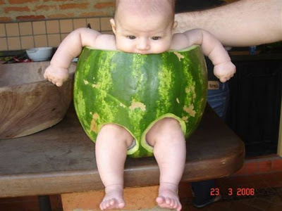 Photos Of a Baby Inside A Watermelon