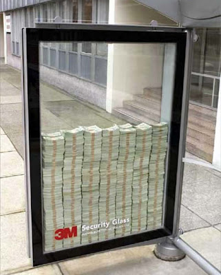 3M was so sure their Security Glass was unbreakable, they put a large stack of cash behind it and shoved it in a bus stop.
