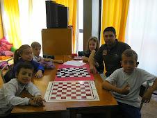 Na aula de Xadrez, que legal!