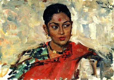 Beautiful paintings of Indian women