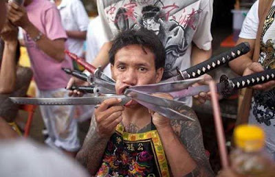 Thailand Piercing Festival Extreme And Shocking