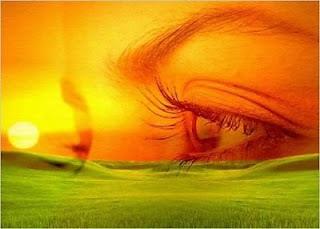 ojos serenos de mujer