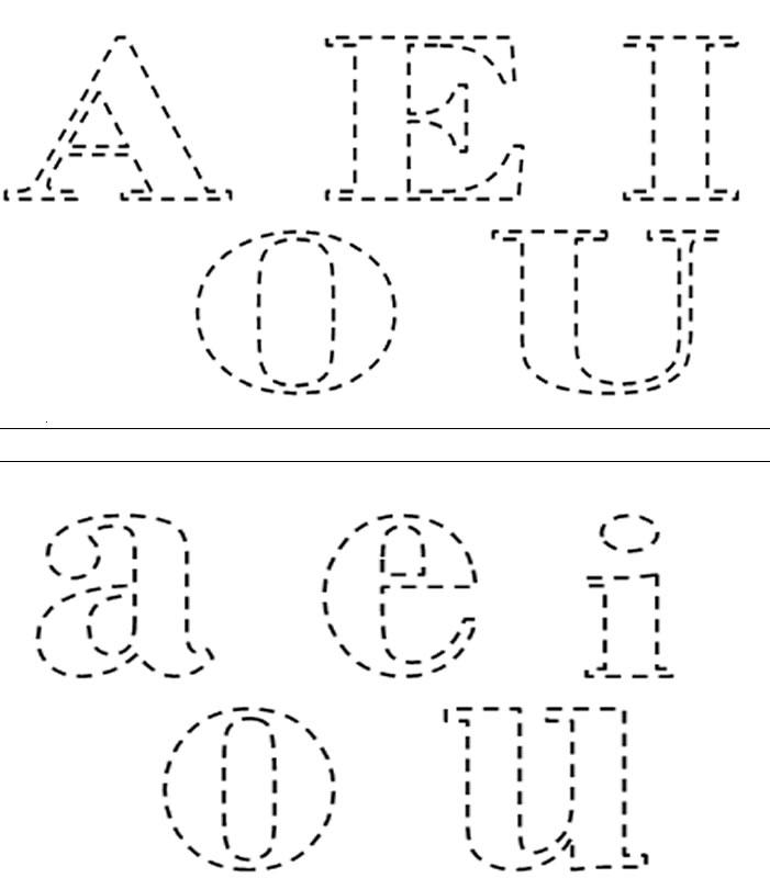 Desenho De Vogais Para Colorir Vogais Para Pintar