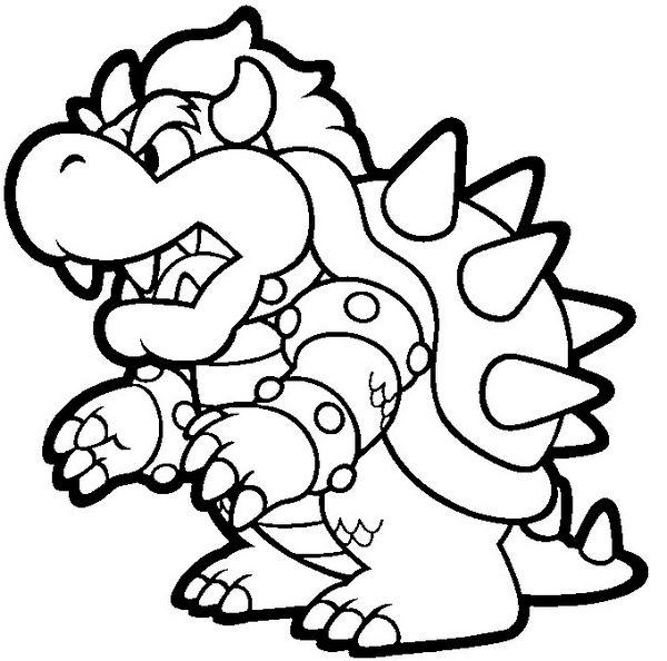 Ba da web desenhos do super mario bros e sua turma para for Nintendo coloring pages