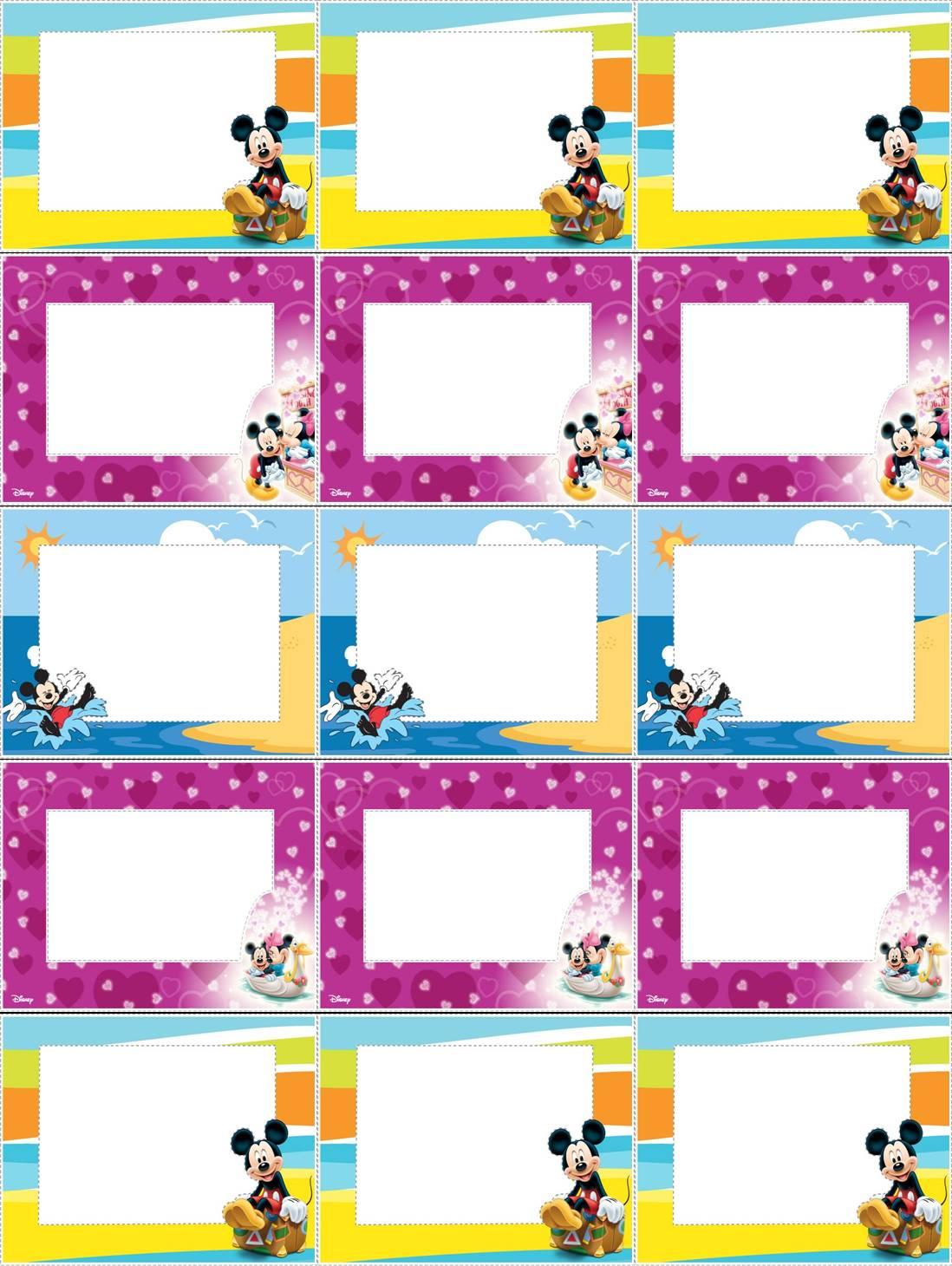 Etiquetas Para Imprimir De Mickey Mouse