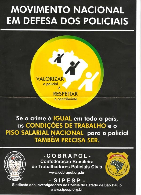 PISO NACIONAL POLÍCIA VALORIZADA EM TODO O BRASIL