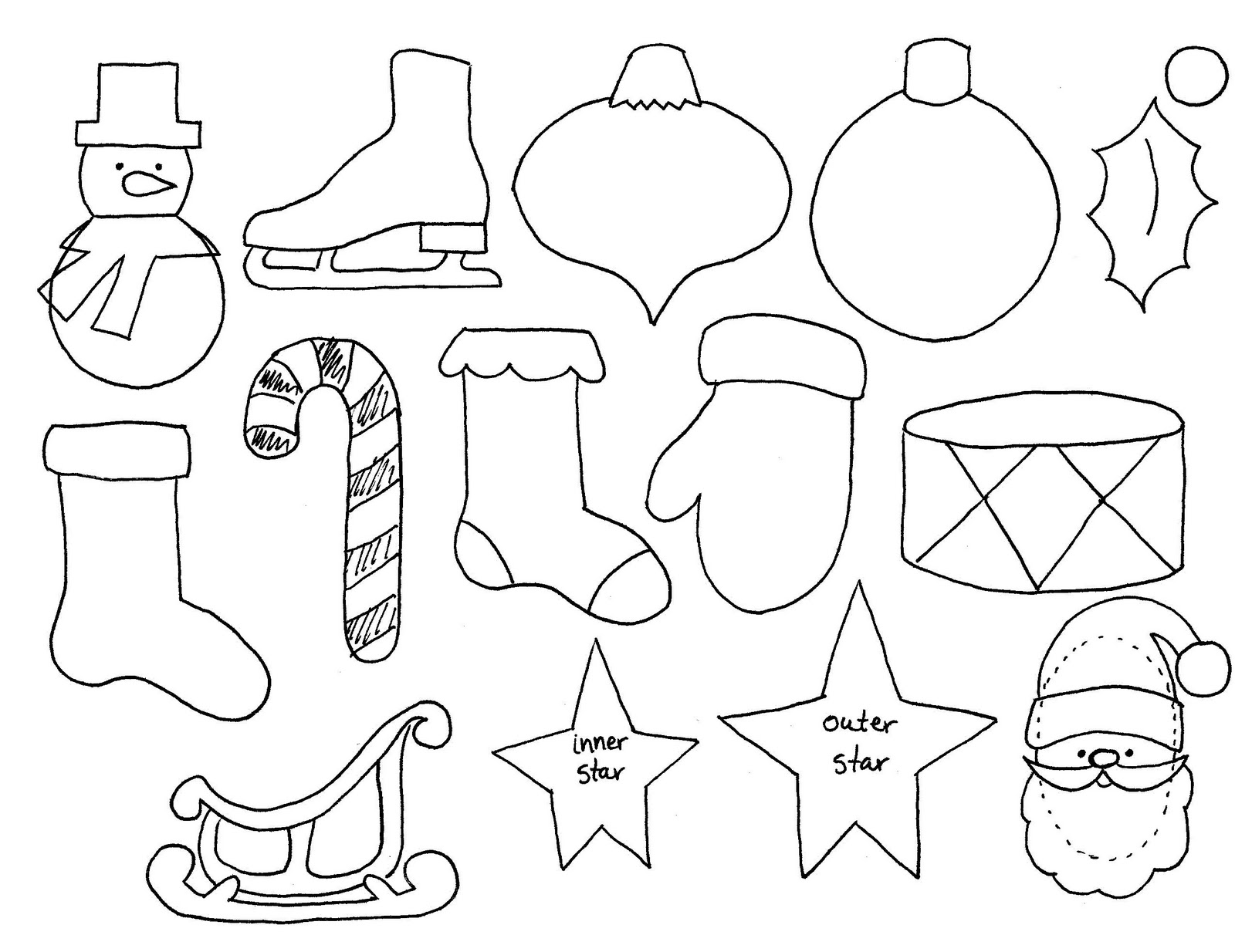 christmas ornament template - photo #26