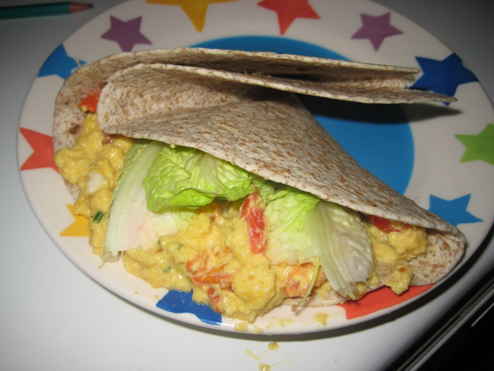 Spicy Scrambled Eggs with Chapatis (from Vegetarian Christmas, Good ...