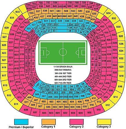 Santiago Bernabeu Seating Chart And Information