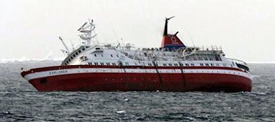 Sinking MV Explorer