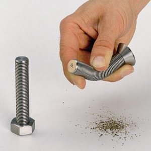 Nut Bolt and Screw Salt and Pepper Shakers
