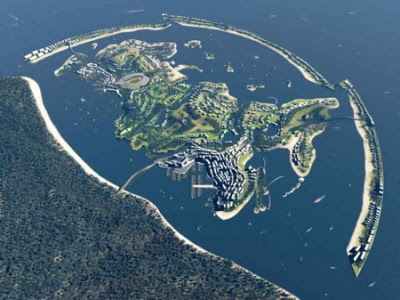 Artificial islands shaped like Russia