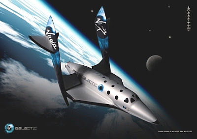 SpaceShipTwo transitions into feathering mode for its reentry