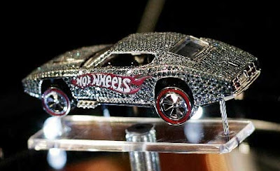 A diamond encrusted Hot Wheels car