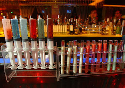 Syringes and test tubes