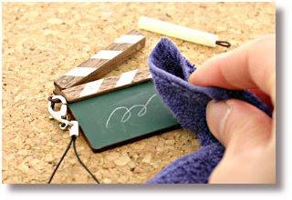 Movie clapboard cellphone strap