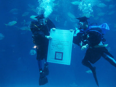 Underwater Graduation Ceremony