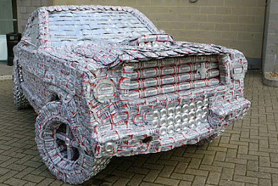 Ford Mustang made with 5,000 beer cans