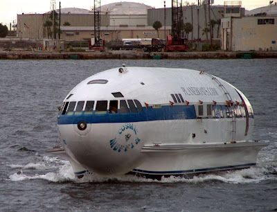 Unusually shaped yacht called Cosmic Muffin