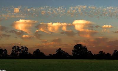Unusual clouds known as Altocumulus Castellanus