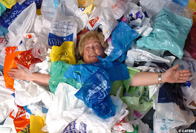 Carol Vaughan, queen of plastic bags