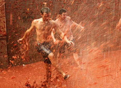 Tomato fight in Spain