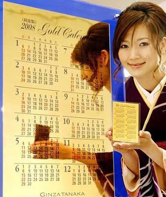 Gold 2008 calendar