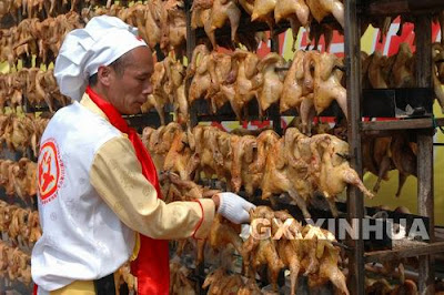 2,008 Chickens Baked in 100 Minutes