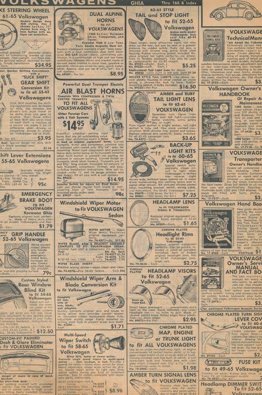 Big Blue's Online Carburetor: 1965 JC Whitney catalog