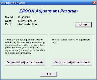 Free Resetter Epson B-300 and Epson B-500DN