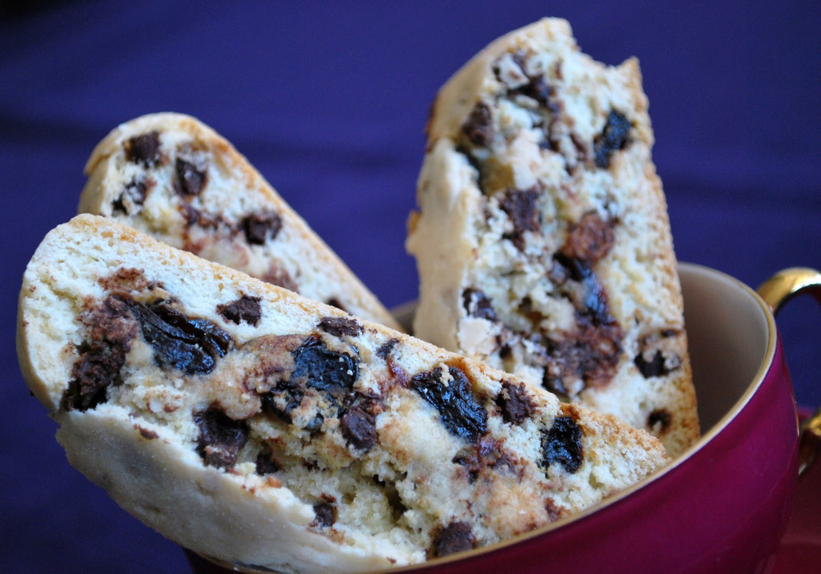 The Capitol Baker: Chocolate Chip Cherry Biscotti