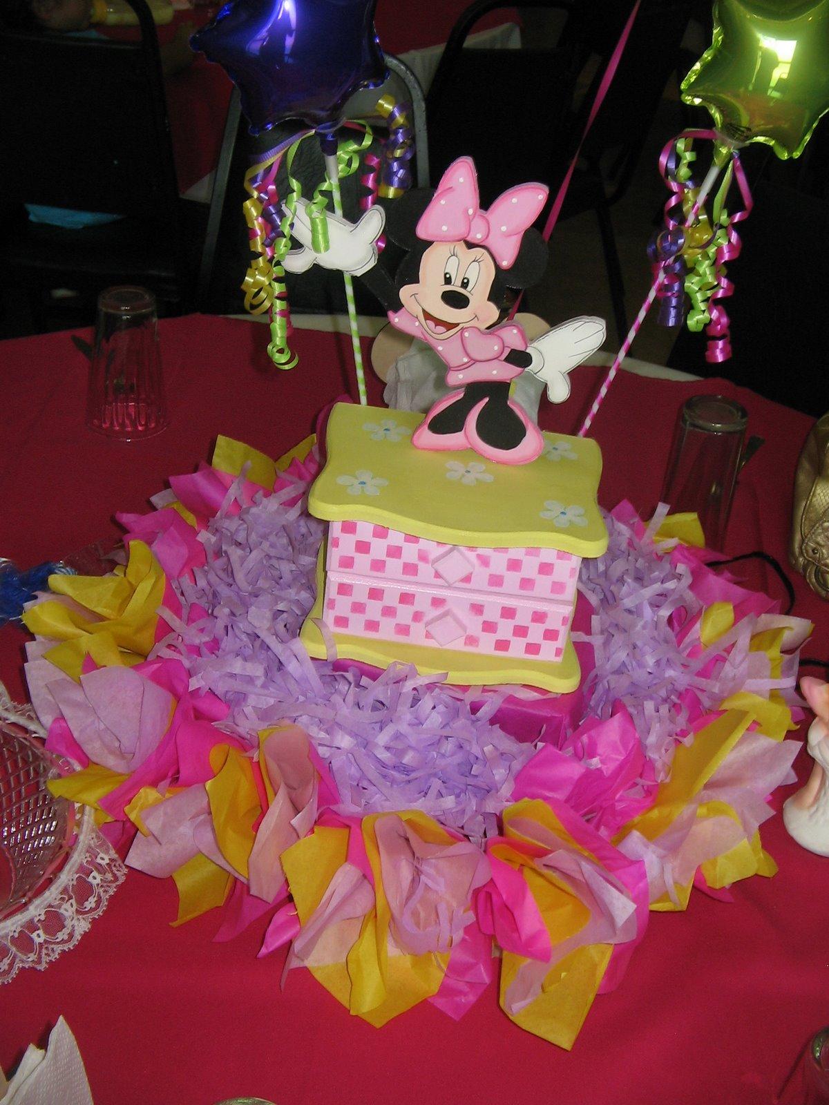 Decoración de Minnie Mouse roja en Decoraciones