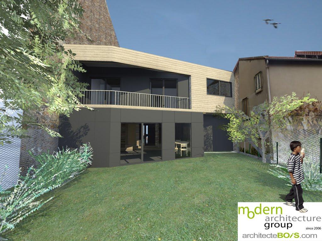 Maison bois arceuil architecte maison bois paris alsace for Architecte maison bois